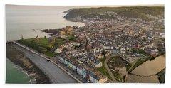 Dawn Over Aberystwyth Wales Hand Towel