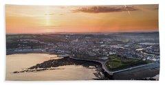Daybreak Over Aberystwyth Wales Hand Towel