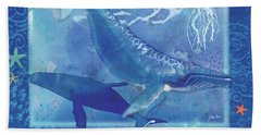 Daydream Whales Hand Towel