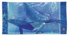 Daydream Whales Bath Towel