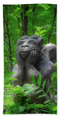 Daydreaming Gargoyle Bath Towel