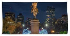 December Evening In Boston's Public Garden Hand Towel
