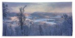 Deer Valley Winter View Bath Towel