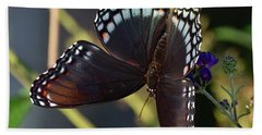 Delicate Beauty Red-spotted Purple Bath Towel