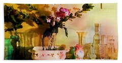 Delicate Flowers Bath Towel