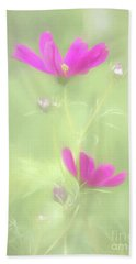 Delicate Painted Cosmos Bath Towel