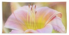 Delicate Pink Daylily Hand Towel