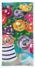 Delightful Bouquet 6- Art By Linda Woods Hand Towel