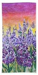 Delphiniums Hand Towel