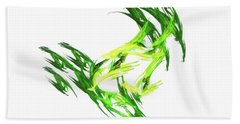 Deluxe Throwing Star Green Hand Towel