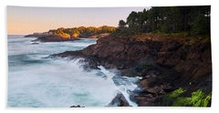 Hand Towel featuring the photograph Depoe Bay Sunrise by Whitney Goodey