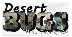 Desert Bugs Big Letter Hand Towel