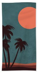 Desert Palm Trees Hand Towel