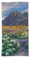 Desert Sand Verbena, Desert Sunflower Bath Towel