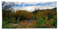 Desert Wildflowers In The Valley Hand Towel