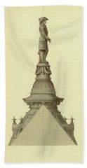 Design For City Hall Tower Bath Towel