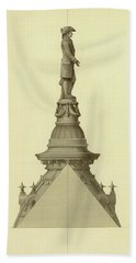 Design For City Hall Tower Hand Towel