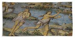 Details Of Majolica Floor Mosaic Bath Towel