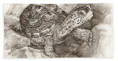 Diamondback Terrapin Bath Towel