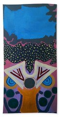 Bath Towel featuring the painting Did You Receive The Message by Samantha Galactica