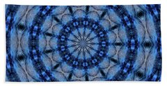 Blue Jay Mandala Bath Towel