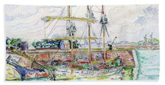 Docks At Saint Malo - Digital Remastered Edition Hand Towel