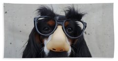 Bath Towel featuring the digital art Dog Gone Funny by ISAW Company