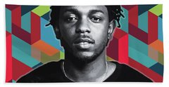 Hand Towel featuring the painting Don't Kill My Vibe Kendrick by Carla B