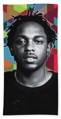 Bath Towel featuring the painting Don't Kill My Vibe Kendrick by Carla B