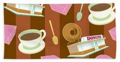 Doughnut_wallpaper_f2 Bath Towel