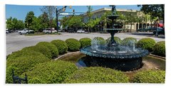 Downtown Aiken Sc Fountain Bath Towel