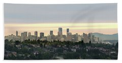 Downtown Sunset Bath Towel