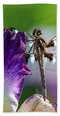 Dragonfly On Iris Hand Towel