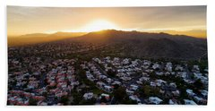 Dramatic South Mountain Sunset Hand Towel