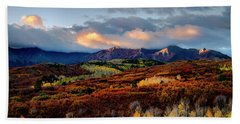 Dramatic Sunrise In The San Juan Mountains Of Colorado Bath Towel