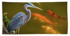 Dreaming Tricolor Heron Hand Towel