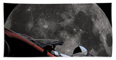 Driving Around The Moon Bath Towel
