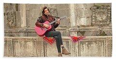 Dubrovnik Street Musician Bath Towel