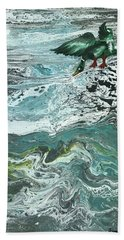 Duck At The River Hand Towel