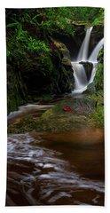 Duggers Creek Falls - Blue Ridge Parkway - North Carolina Hand Towel