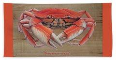 Dungeness Crab Bath Towel