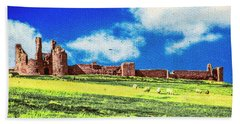 Dunstanburgh Castle In Oil Hand Towel