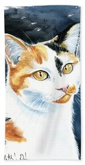 Dushi Calico Cat Painting Bath Towel