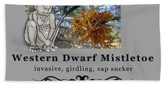 Dwarf Mistletoe Hand Towel