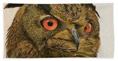 Eagle-owl Bath Towel