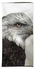 Eagle Protrait Bath Towel