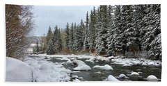 Hand Towel featuring the photograph Eagle River Wilderness by Dan Miller