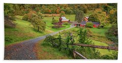 Early Fall At Sleepy Hollow Farm Hand Towel