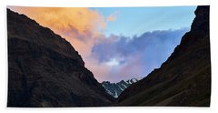 Hand Towel featuring the photograph Early Morning Clouds In Sarchu by Whitney Goodey