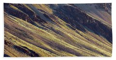 Hand Towel featuring the photograph Early Morning Light On The Hillside In Sarchu by Whitney Goodey